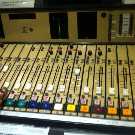 Mixing desk at one of the greatest community radio stations on earth. RRR.